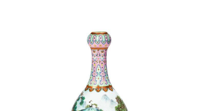 This Chinese vase sold at an auction in France for 16.2 million euros