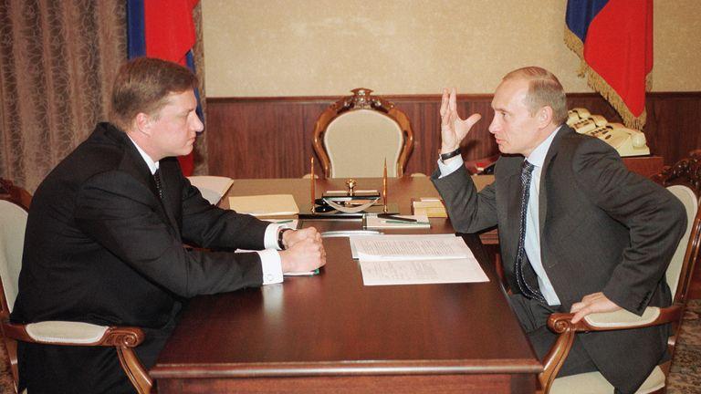 Vladimir Chernukhin and Vladimir Putin