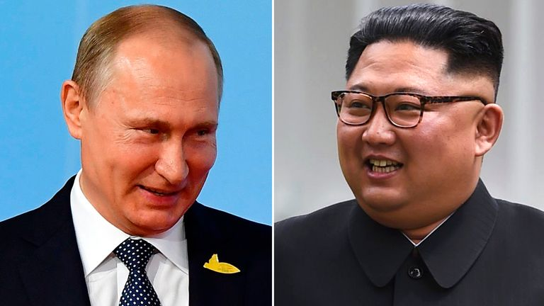 Vladimir Putin Invites Kim Jong Un To Russia In September World News Sky News