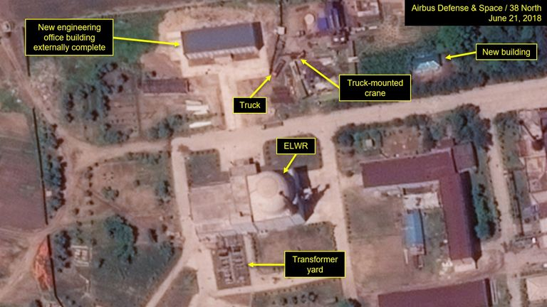 The Yongbyon Nuclear Scientific Research Centre pictured 21 June. Pic: 38 North and Airbus