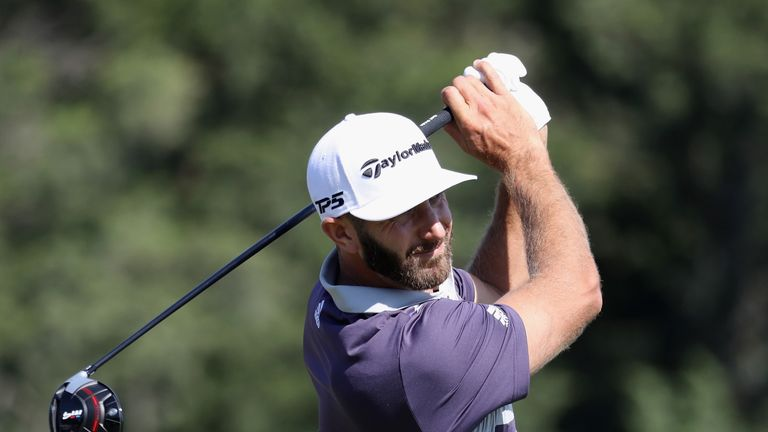Dustin Johnson during the third round of the 2018 U.S. Open at Shinnecock Hills Golf Club on June 16, 2018 in Southampton, New York.