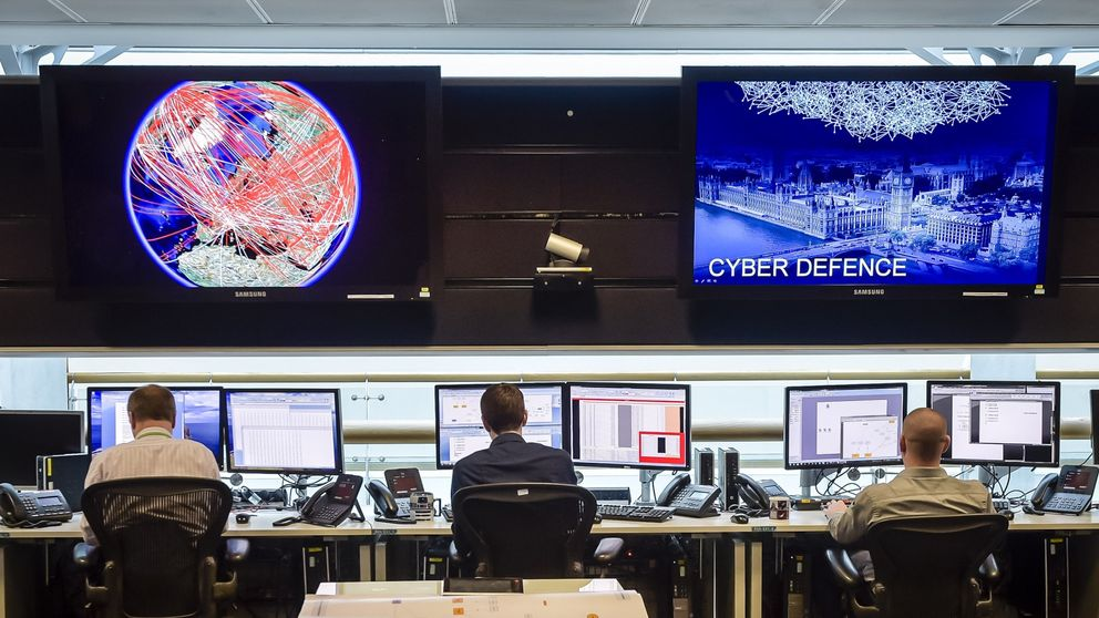 A general view of the 24 hour operations room at Government Communication Headquarters (GCHQ) in Cheltenham on November 17, 2015. AFP PHOTO / POOL / Ben Birchall (Photo credit should read Ben Birchall/AFP/Getty Images)