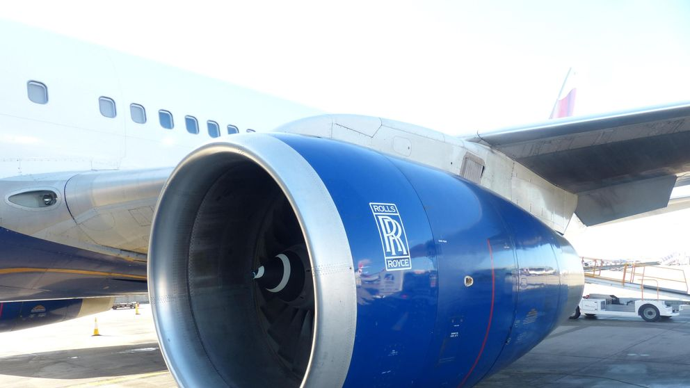 British Airways Airbus with Rolls Royce jet engine