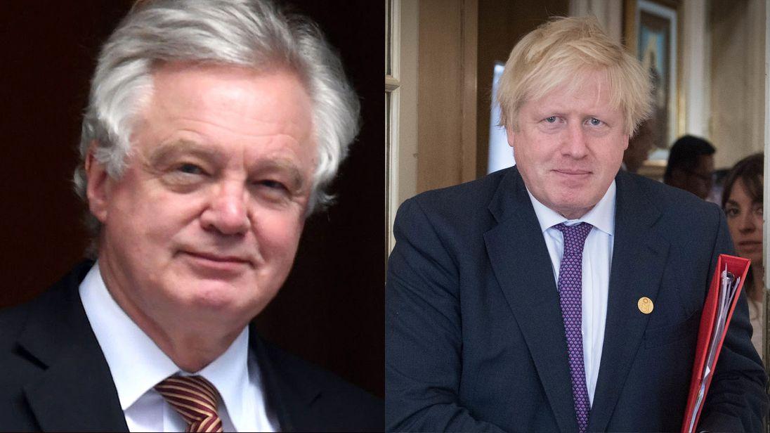 Boris Johnson (right) and David Davis has both resigned