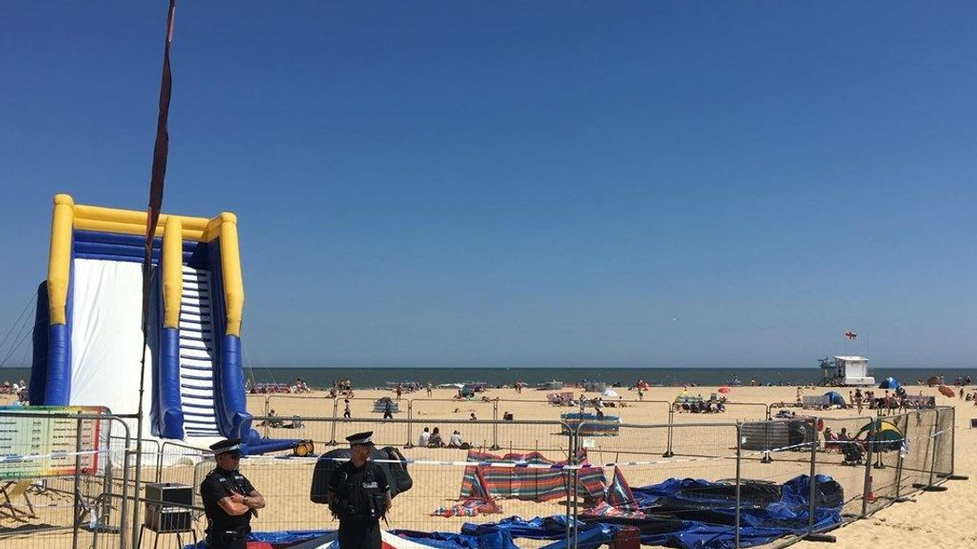 Gorleston beach: Child dies after bouncy castle accident in Norfolk