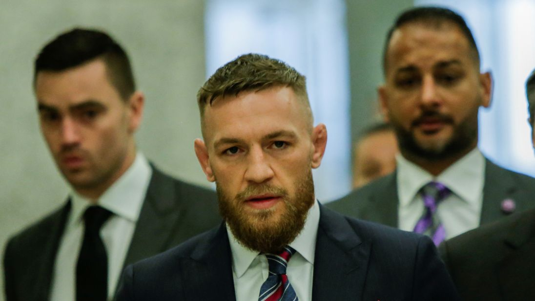 MMA-UFC/MCGREGORRTX6CWKP26 Jul. 2018Brooklyn, UNITED STATESMixed martial arts (MMA) fighter Conor McGregor exits the courtroom after appearing in the Brooklyn court on charges of assault stemming from a melee, in the Brooklyn borough of New York City, U.S., July 26, 2018. REUTERS/Eduardo Munoz