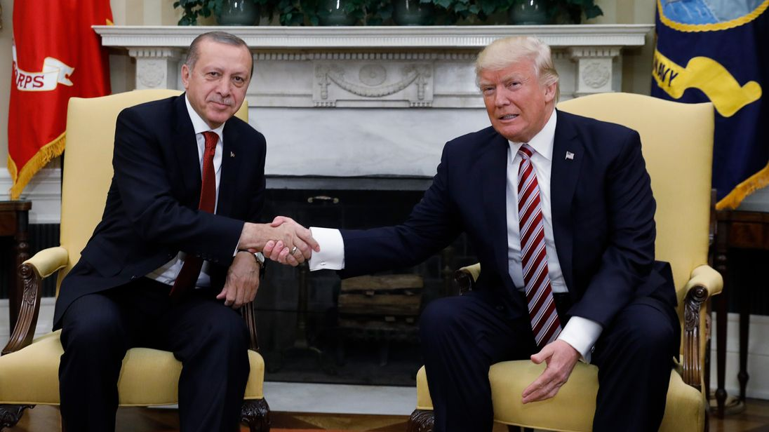 The US president welcomed his Turkish counterpart to the White House in 2017