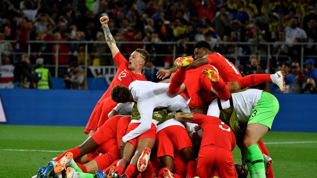 world cup england win 4 3 on penalties to make quarter final