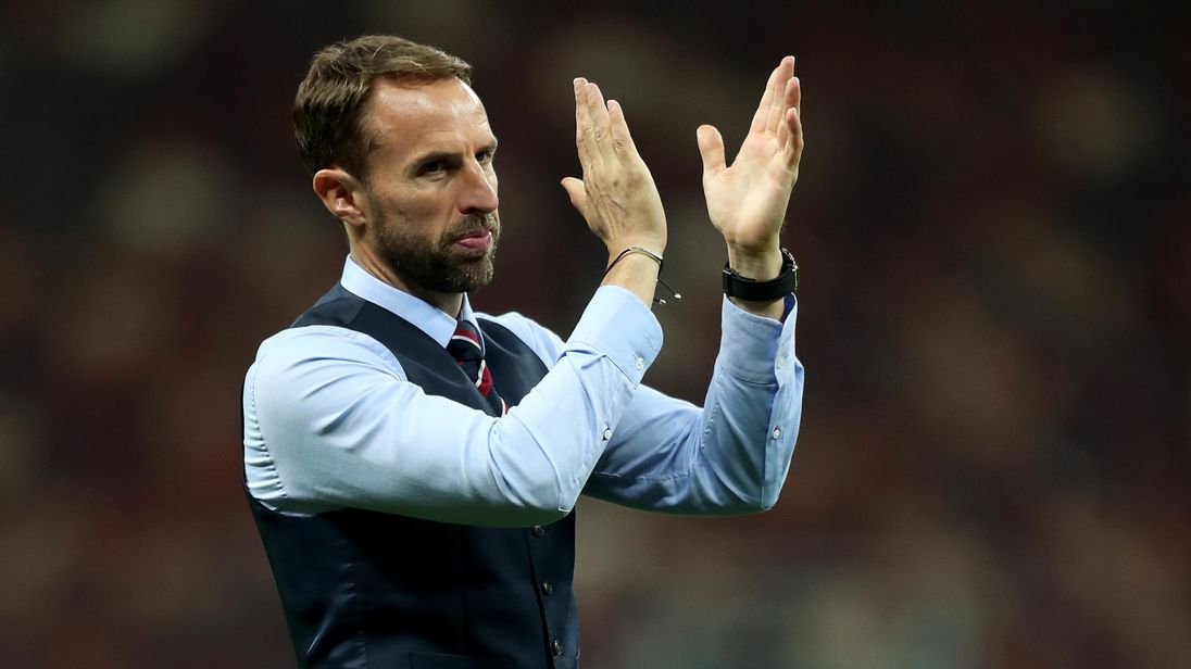 England manager Gareth Southgate applauds fans after the World Cup semi-final against Croatia