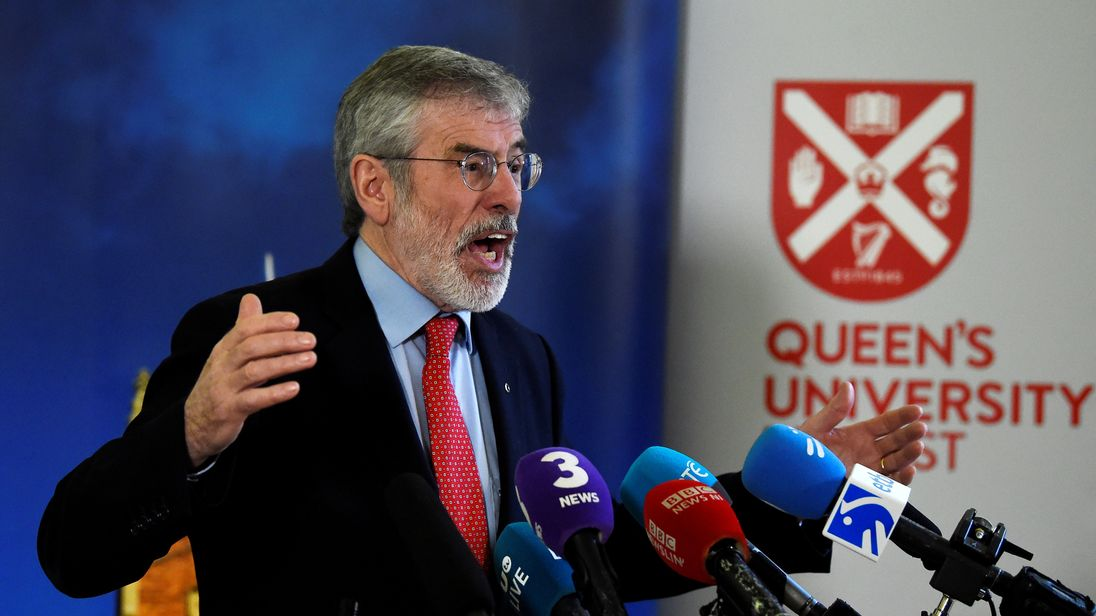Gerry Adams, former Sinn Fein leader