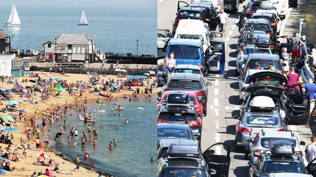 The heatwave has brought beach weather and travel chaos