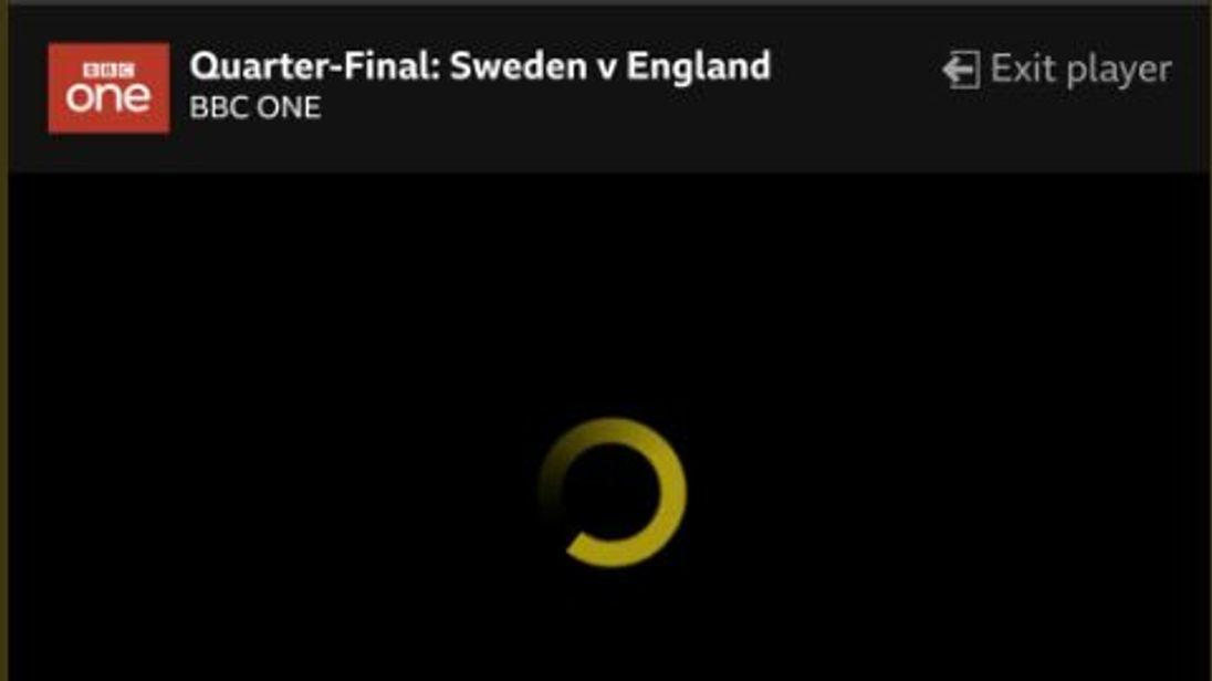 BBC iPlayer crashed just before England won 2-0 against Sweden