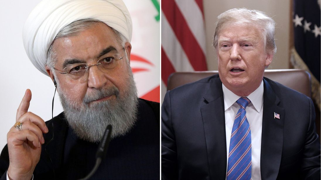 Iran president warns Donald Trump of 'mother of all wars'