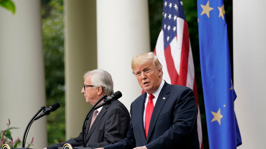 Trump suggests no tariffs between US, Europe