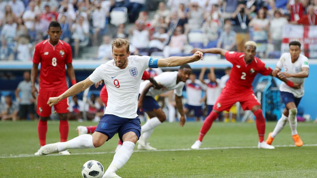 during the 2018 FIFA World Cup Russia group G match between England and Panama at Nizhny Novgorod Stadium on June 24, 2018 in Nizhny Novgorod, Russia.