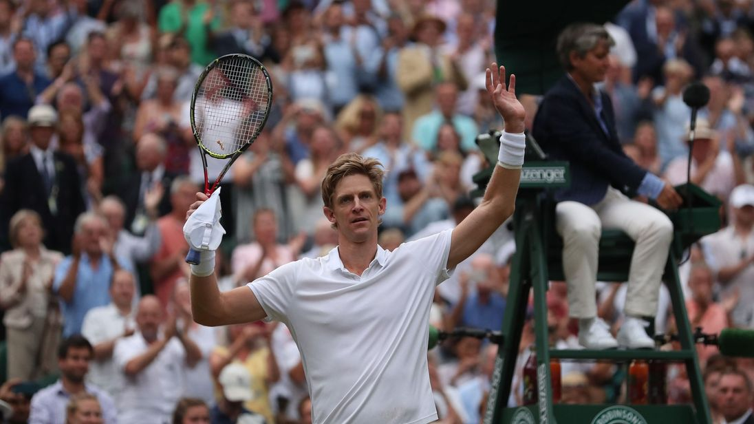 Kevin Anderson is through to this year's Wimbledon final