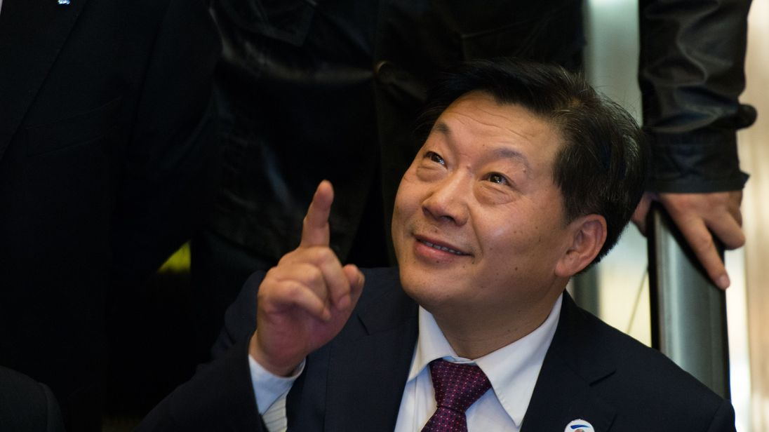 Lu Wei, China's Minister of Cyberspace Affairs Administration, gestures after giving a speech at the opening ceremony of the World Internet Conference in Wuzhen, in eastern China's Zhejiang province on November 19, 2014. China, which censors online content it deems to be politically sensitive, opened the World Internet Conference in Wuzhen with the country's biggest Internet companies in attendance alongside a sprinkling of foreign executives and officials. AFP PHOTO / JOHANNES EISELE [IN_PRODUC