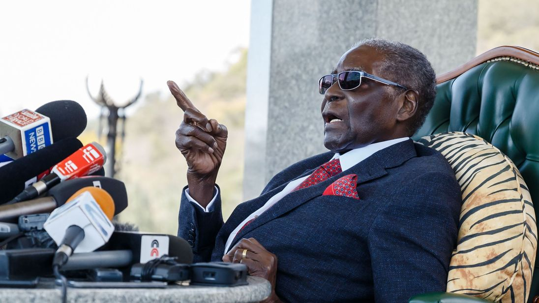 Zimbabwe's ex-leader Robert Mugabe no longer able to walk, president says