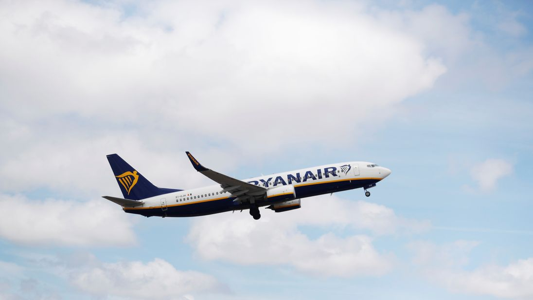 A Ryanair Boeing 737-800 plane takes off at Lisbon's airport, Portugal July 5, 2018. REUTERS/Rafael Marchante