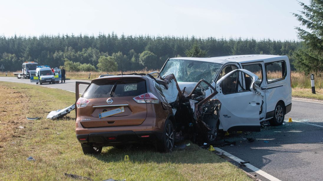 Boy 4 Among Five Killed In Minibus And Car Crash In Scotland