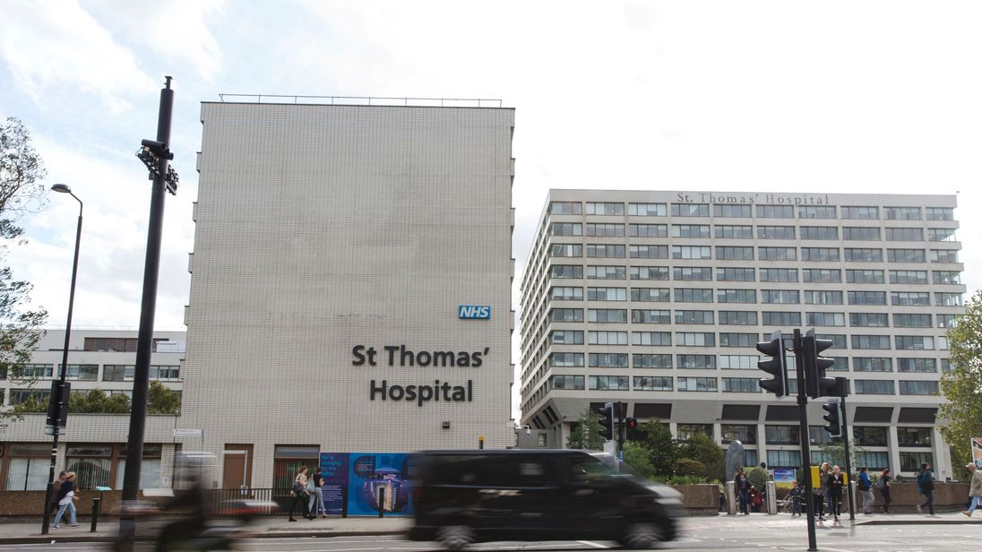 The two-year-old died at St Thomas Hospital