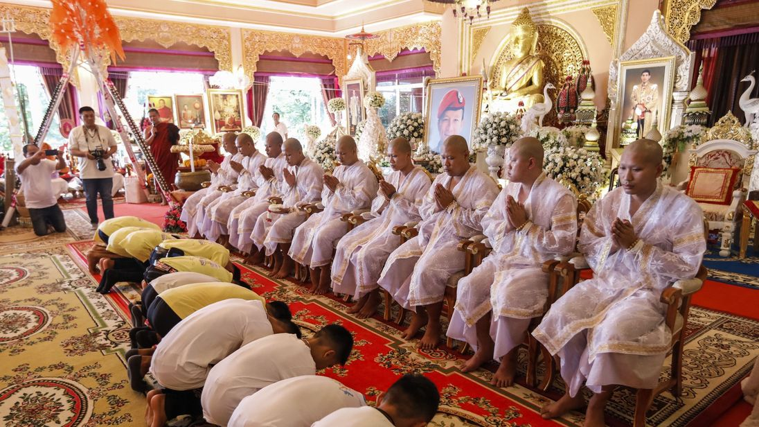 Rescued Thai cave boys to become Buddhist novices and monks