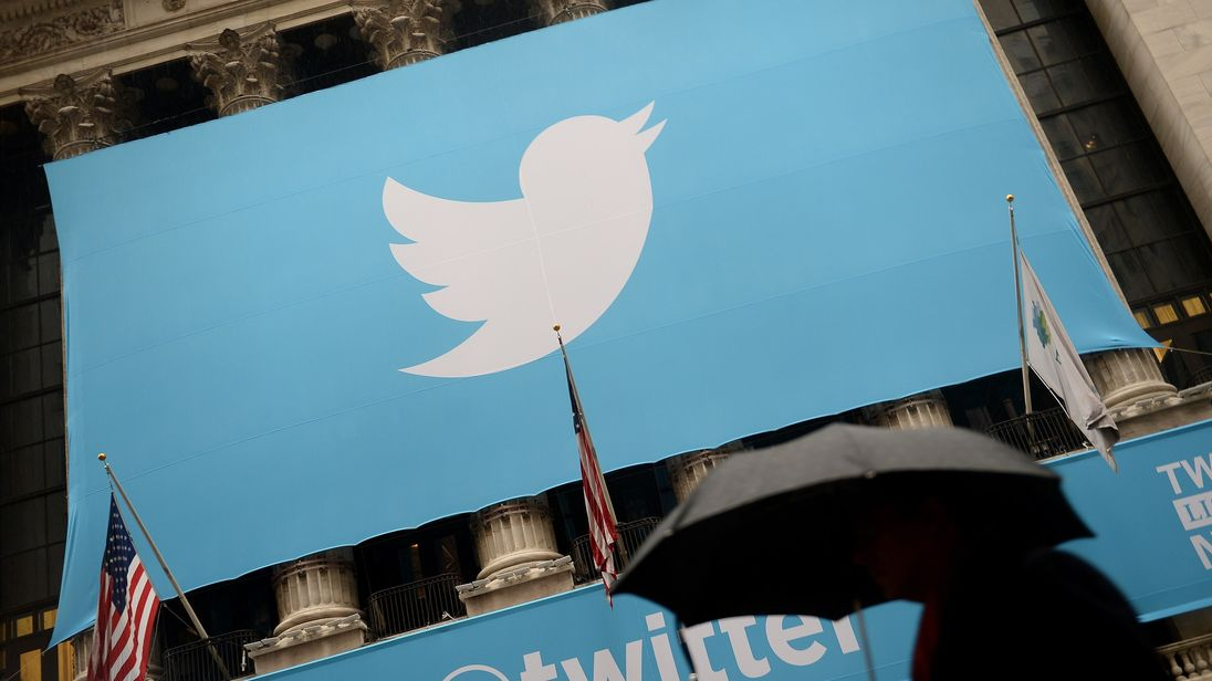 A banner with the logo of Twitter is set on the front of the New York Stock Exchange (NYSE) on November 7, 2013 in New York. Twitter hit Wall Street with a bang on Thursday, as an investor frenzy quickly sent shares surging after the public share offering for the fast-growing social network. In the first exchanges, Twitter vaulted 80.7 percent to $47, a day after the initial public offering (IPO) at $26 per share. While some analysts cautioned about the fast-changing nature of social media, the