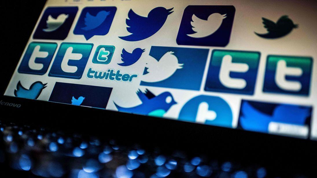 Stock style photo of Twitter logos
