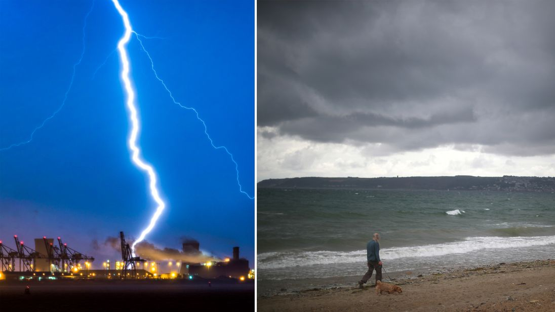 uk weather stark contrast ahead as wet and windy weekend looms