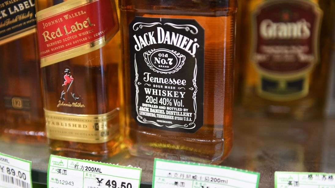 Imported US whiskey is among the products that faces being slapped with retaliatory tariffs