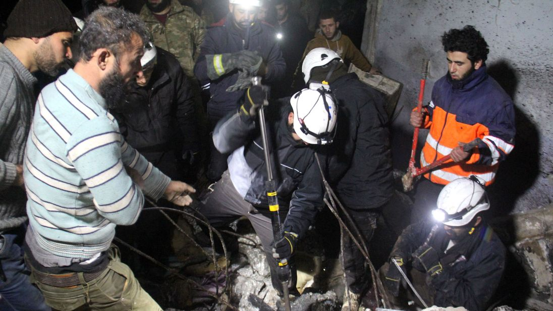 Civil Defence volunteers also known as the White Helmets have been evacuated to Jordan