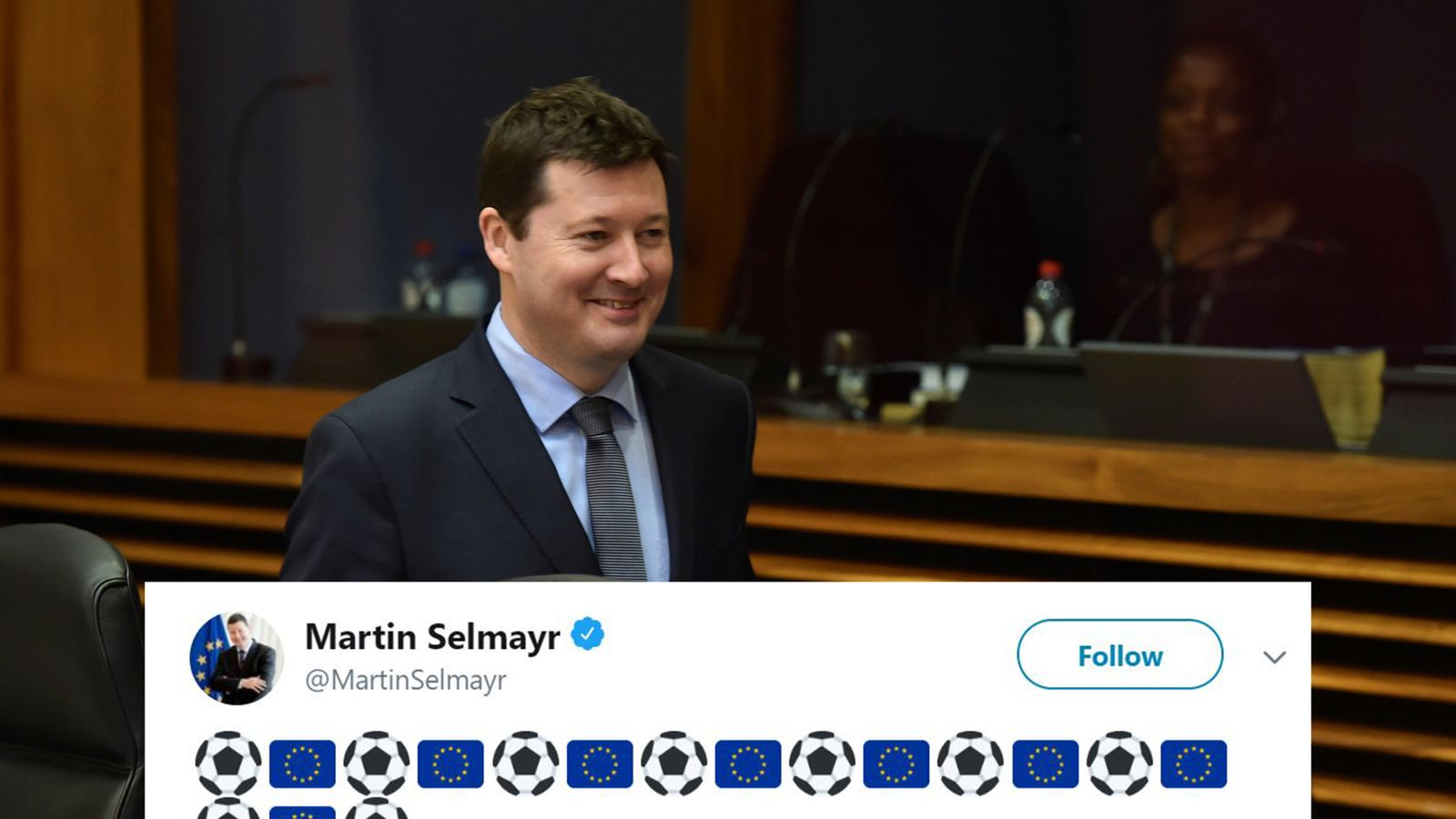 'Brexit nemesis' gloats at England loss in EU tweet