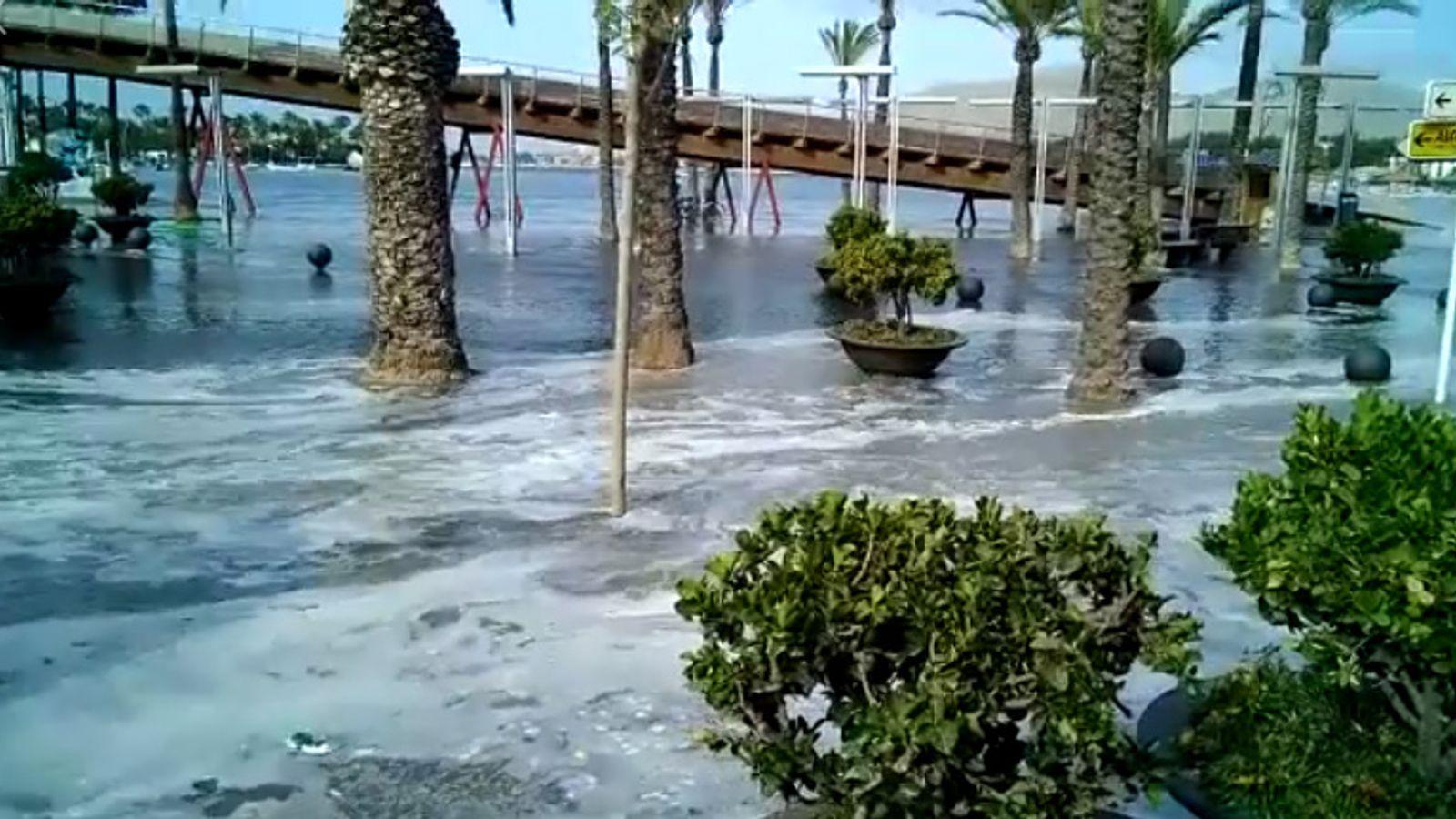 MiniTsunamiHitsMajorcaAndMenorcaFloodingBeachesAndRestaurants