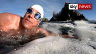 Ocean Campaigner Lewis Pugh aims to swim 350 miles in 50 days.