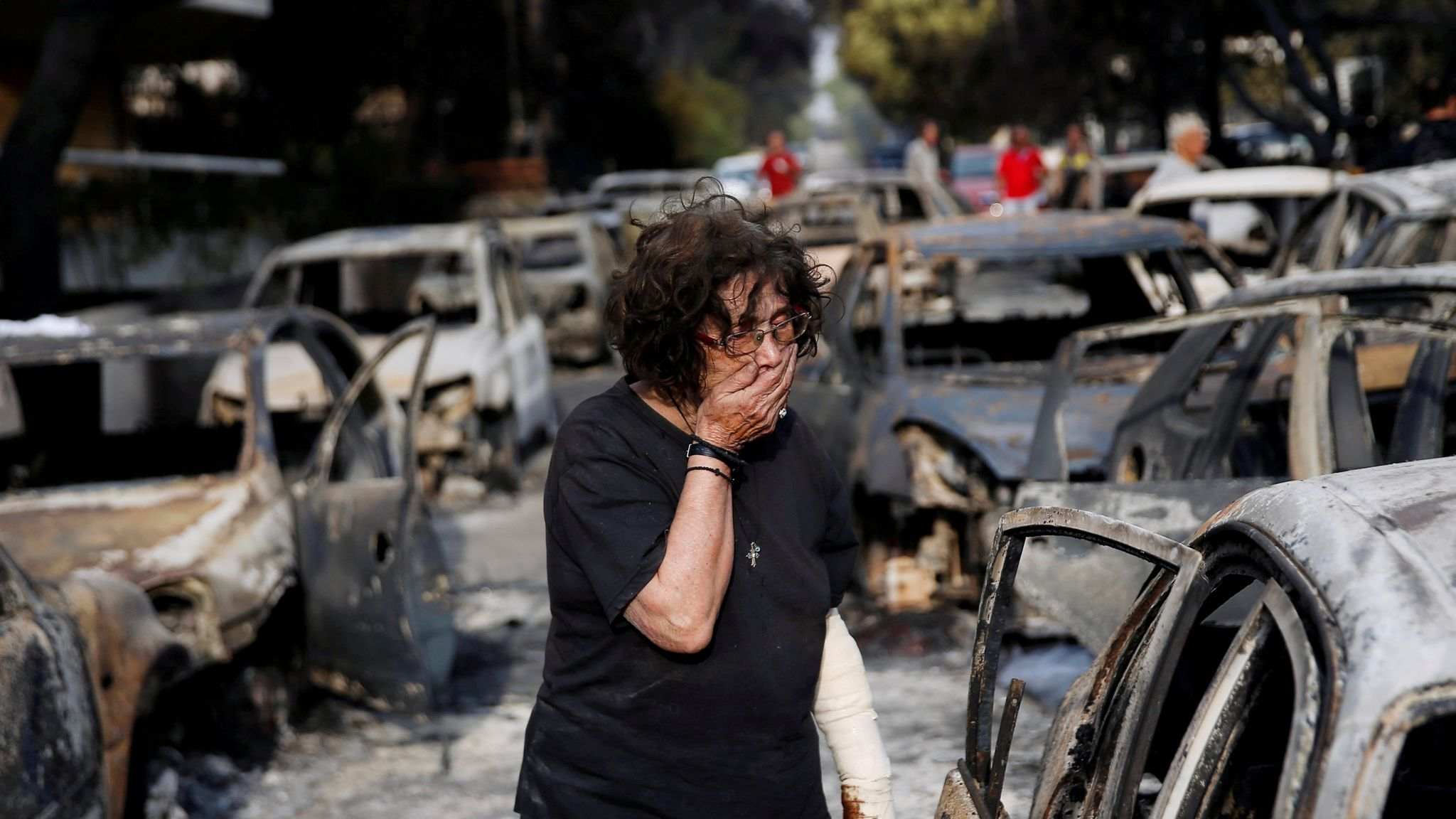 greece wildfires: terror police investigate after 'armageddon