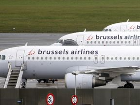 Planes in Belgium have been grounded. File pic