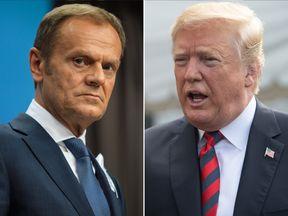 Donald Tusk and Donald Trump