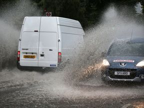 Forecasters have warned flash flooding could bring hazardous driving conditions
