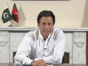 Imran Khan gives a live-televised address