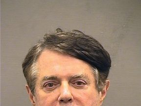 Paul Manafort's mugshot photo after he was moved to Alexandria detention centre