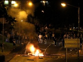 There was violence on Fahan Street, Londonderry, for the sixth night in a row on Thursday