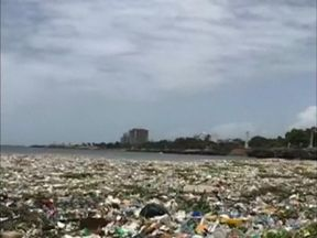 The Dominican Republic is cleaning up up tonnes of plastic that has spoilt its Caribbean shores