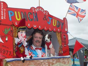 Brian Llewellyn says a school cancelled a booking of his Punch and Judy show over fears that it glorified domestic violence. Pic: Brian Llewellyn/Facebook