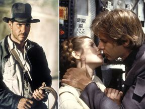 Harrison Ford in Raiders of The Lost Ark and Star Wars The Empire Strikes Back. Pic: Lucasfilm