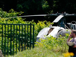 The helicopter was found abandoned