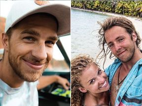 Ryker Gamble, left, Megan Scraper, centre, and Alexey Lyakh died at Canada's Shannon Falls