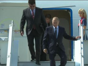 Vladimir Putin arrives in Helsinki