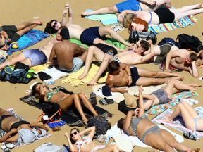 Thousands of people have been enjoying the sunny weather in England