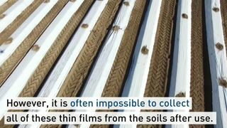 Biodegradable plastic. Pic: ETH Zurich