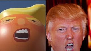 Image result for image of balloon baby trump